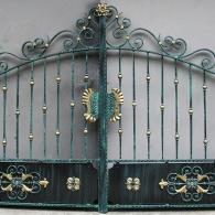 Portail fer forgé ferronnerie d'art Alsace