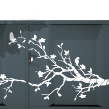 Decoupe arbre en fleurs